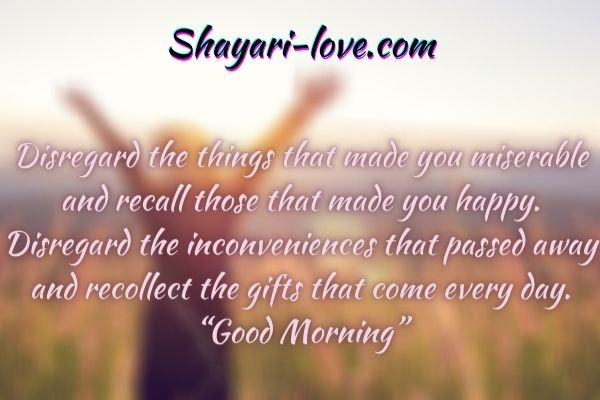 Romantic Good morning Shayari in love